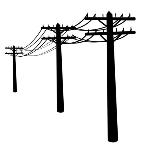 Telephone line pole supply